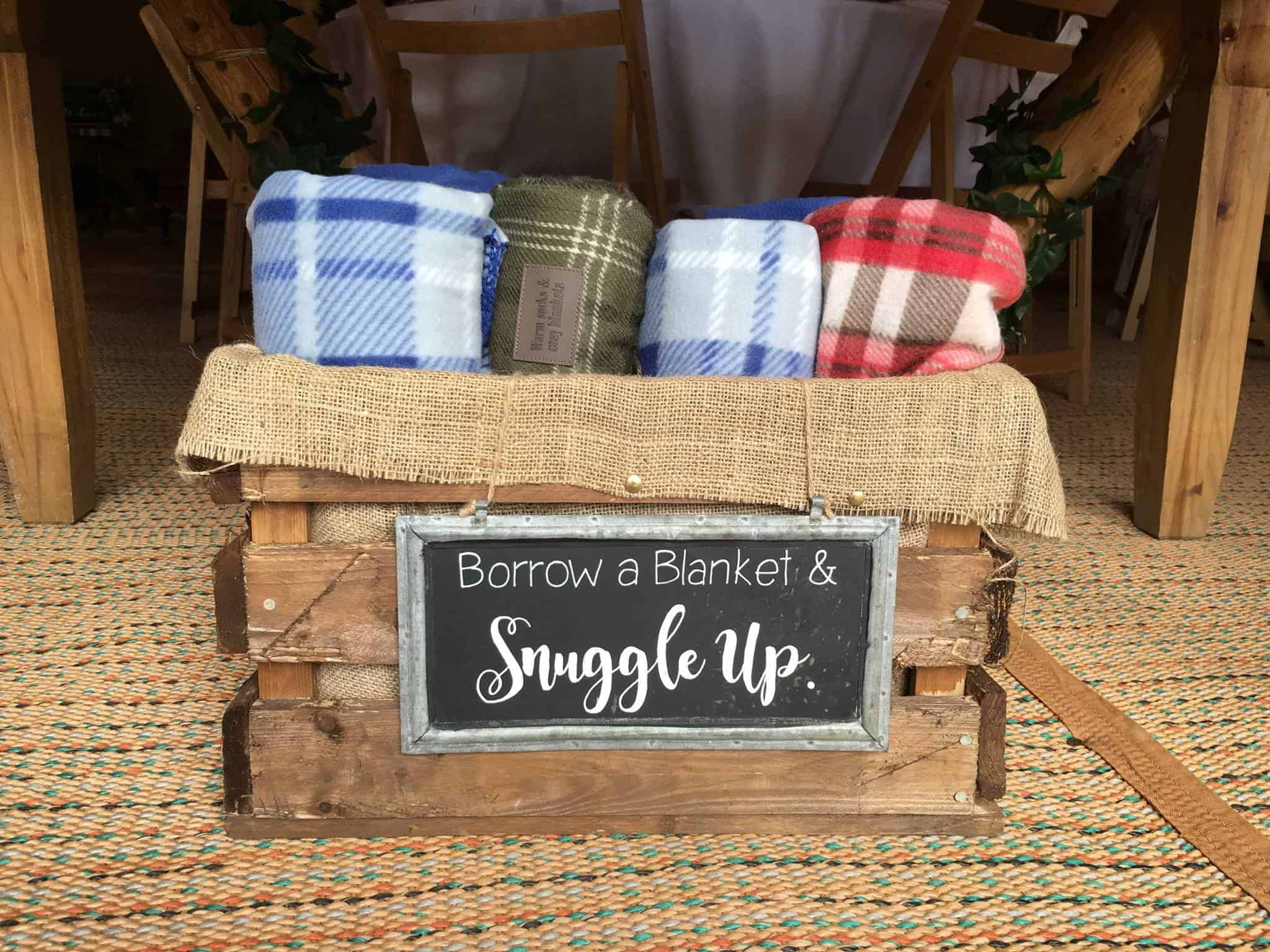 Snuggle Up Blankets - Woodland themed styling by The Rustic Wedding Company