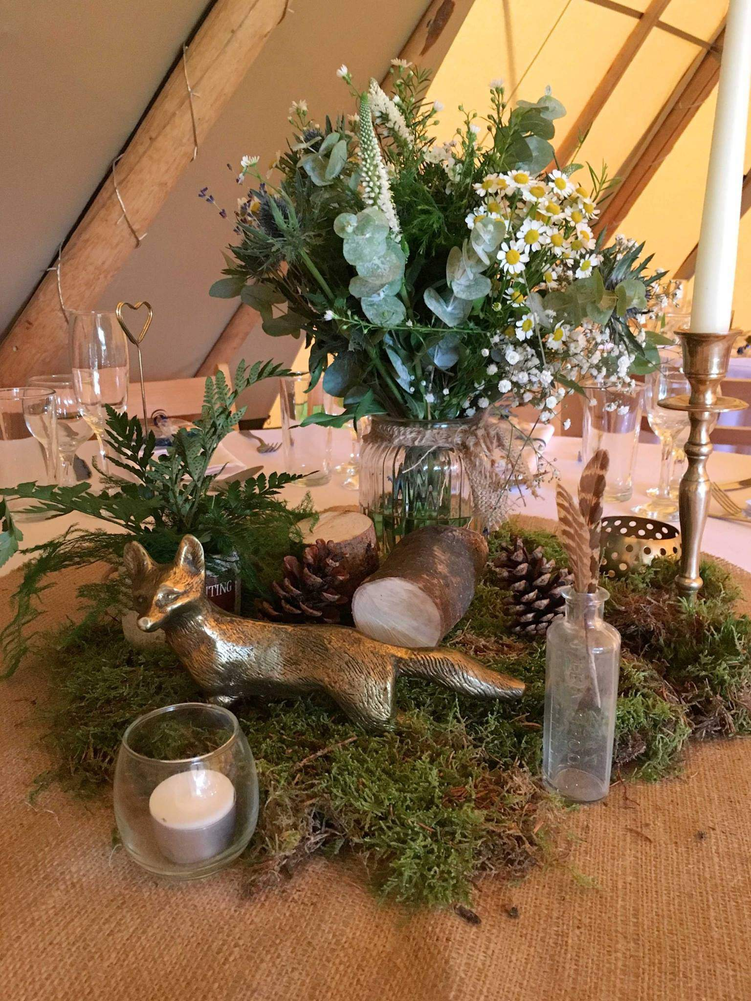Fox Table Setting - Woodland themed styling by The Rustic Wedding Company