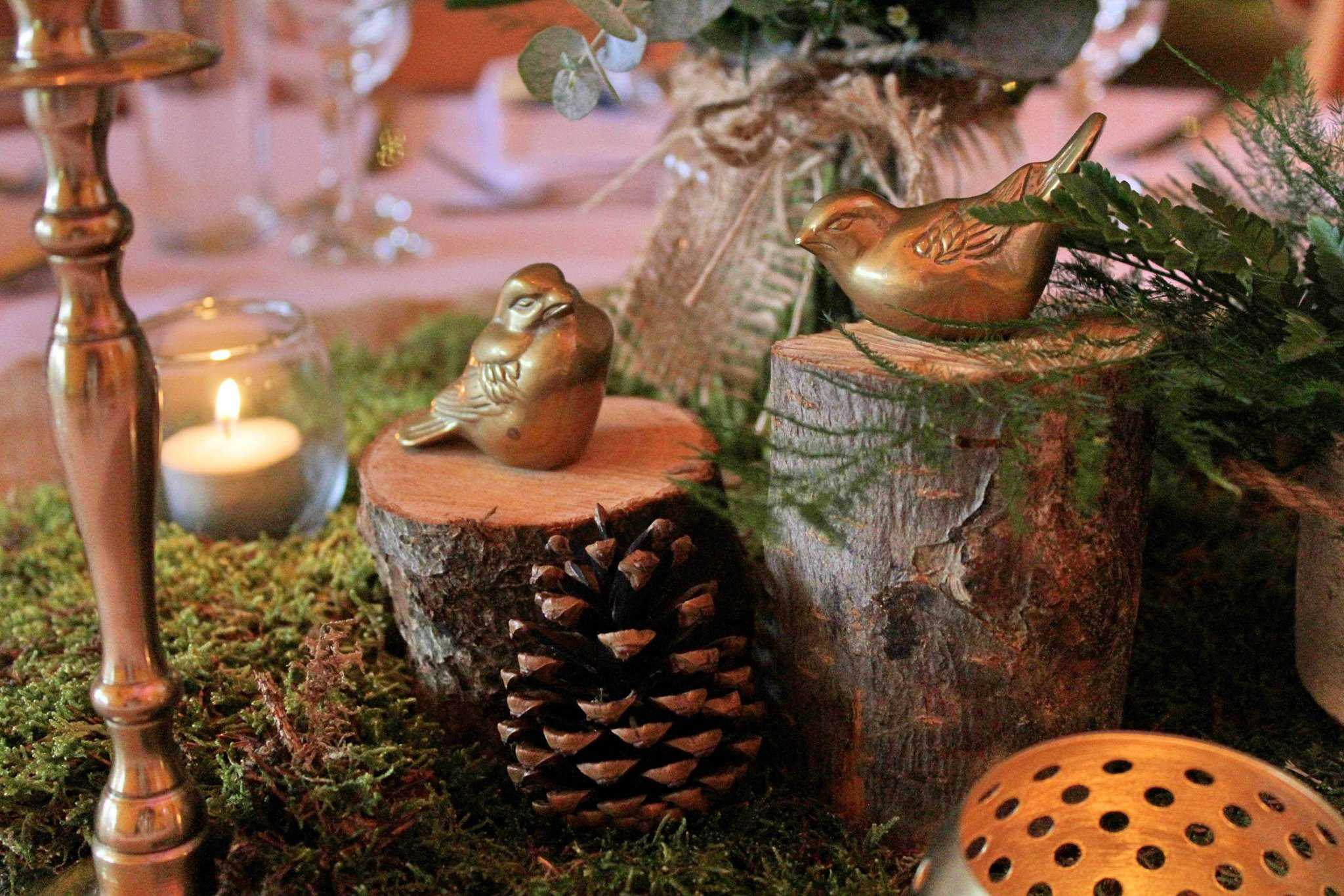 Birds Tabels - Woodland themed styling by The Rustic Wedding Company