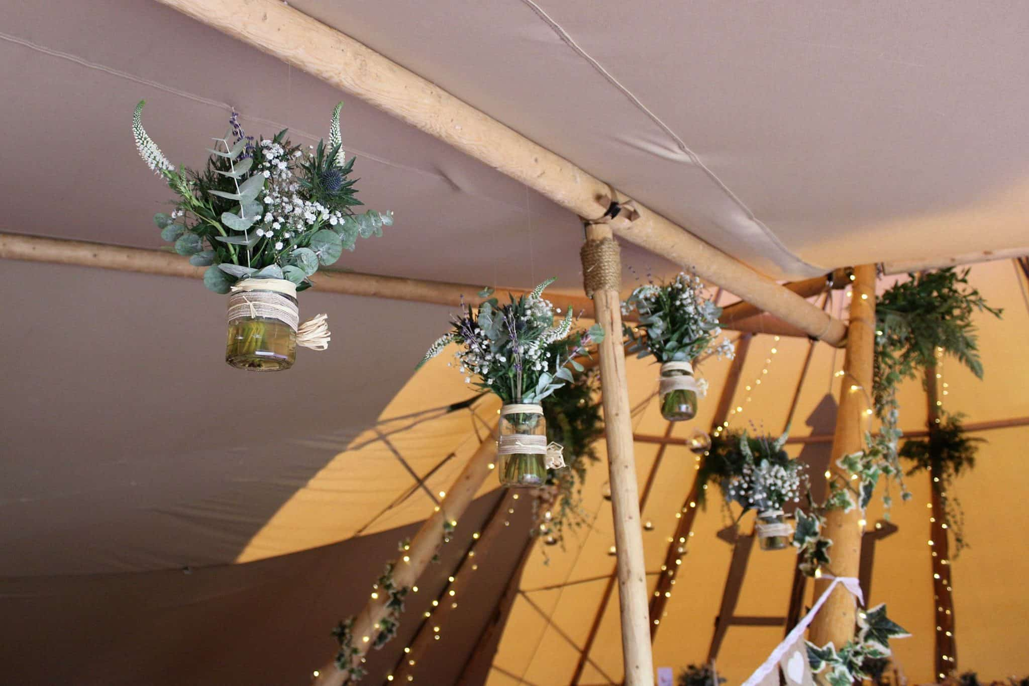 Floral Hanging Decoration - Woodland themed styling by The Rustic Wedding Company