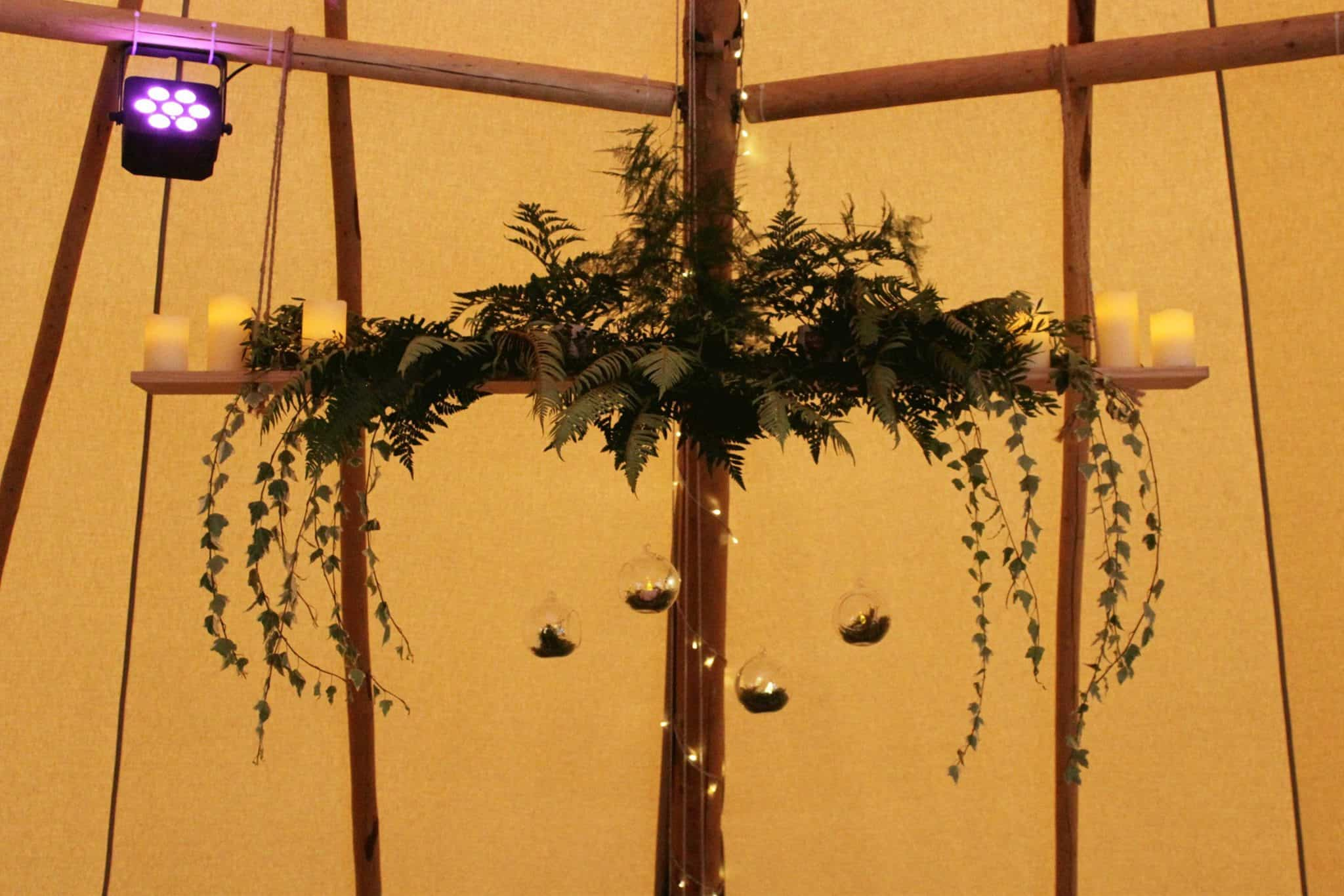 Hanging Shelf - Woodland themed styling by The Rustic Wedding Company