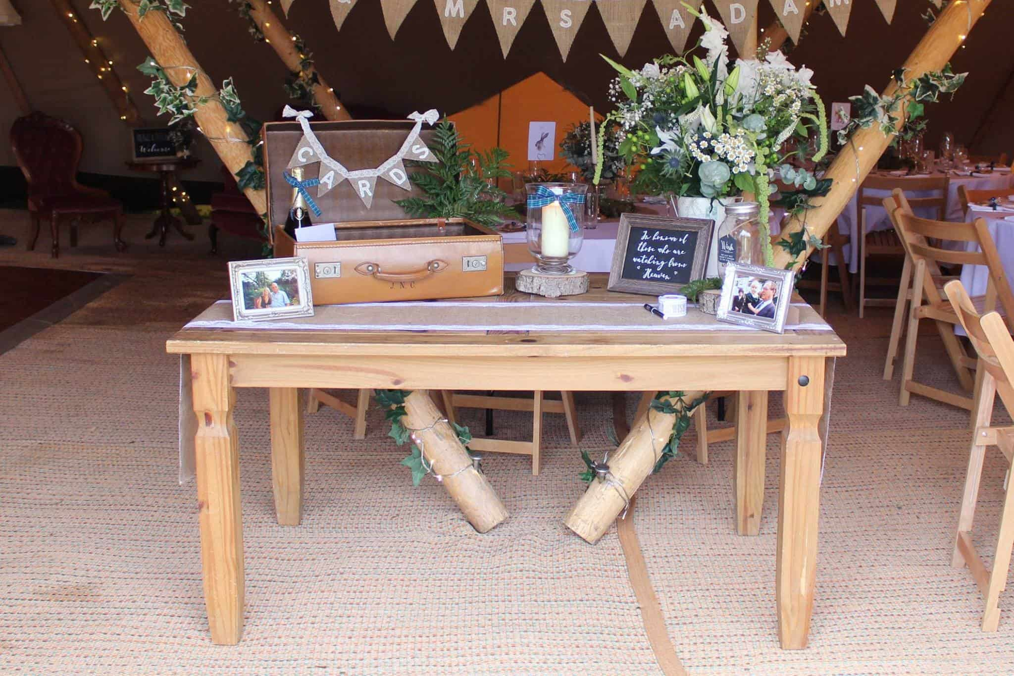 Card Table - Woodland themed styling by The Rustic Wedding Company