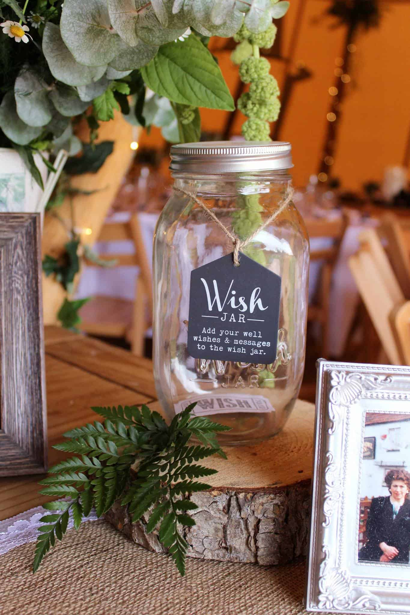 Wish Jar - Woodland themed styling by The Rustic Wedding Company