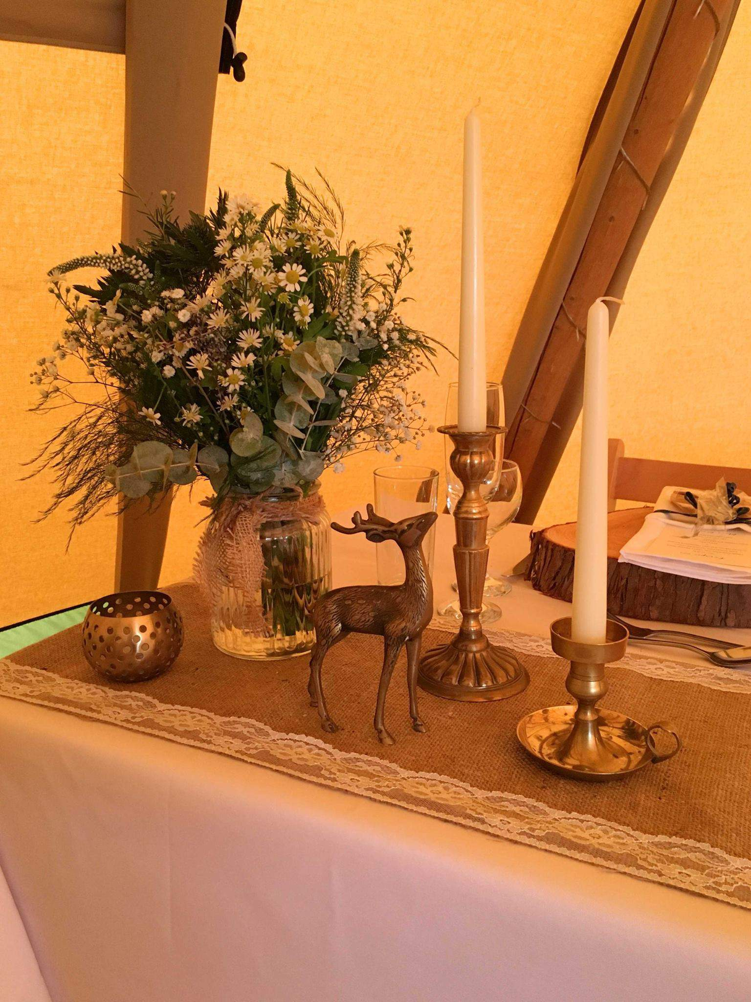 Top Table - Woodland themed styling by The Rustic Wedding Company