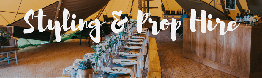 Styling & Prop Hire for your Sami Tipi Wedding and event
