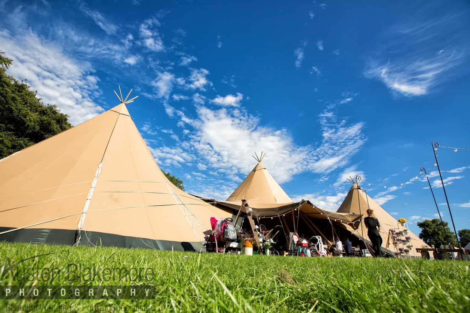 Three giant hat tipis | Sami Tipi | Images by Austin Blakemore