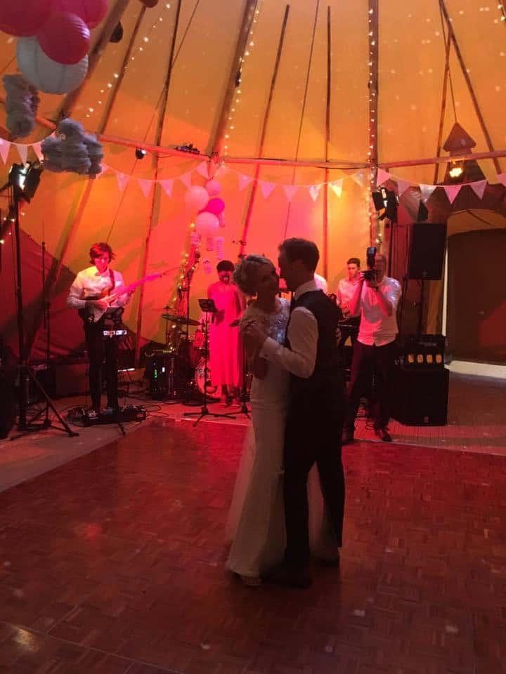 Becky & Dan's Sami Tipi Wedding at Bawdon Lodge Farm