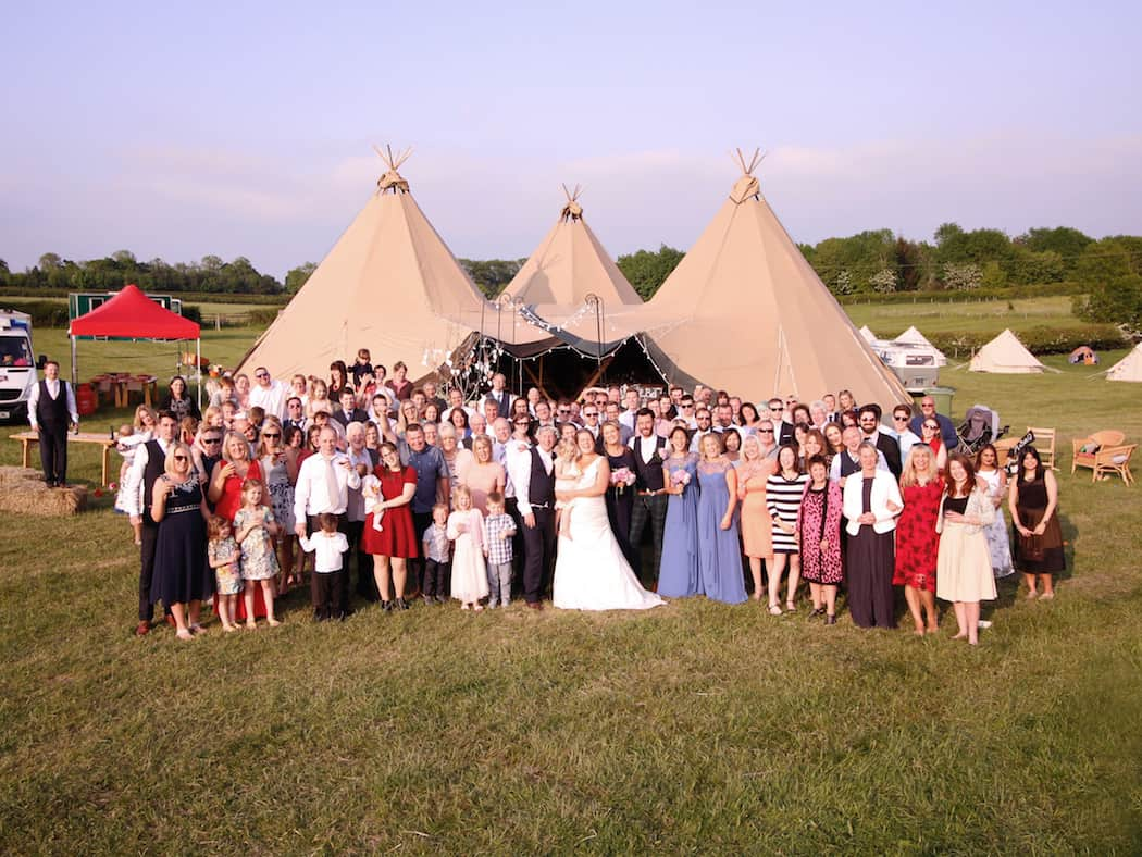 3 giant hat sami tipi wedding