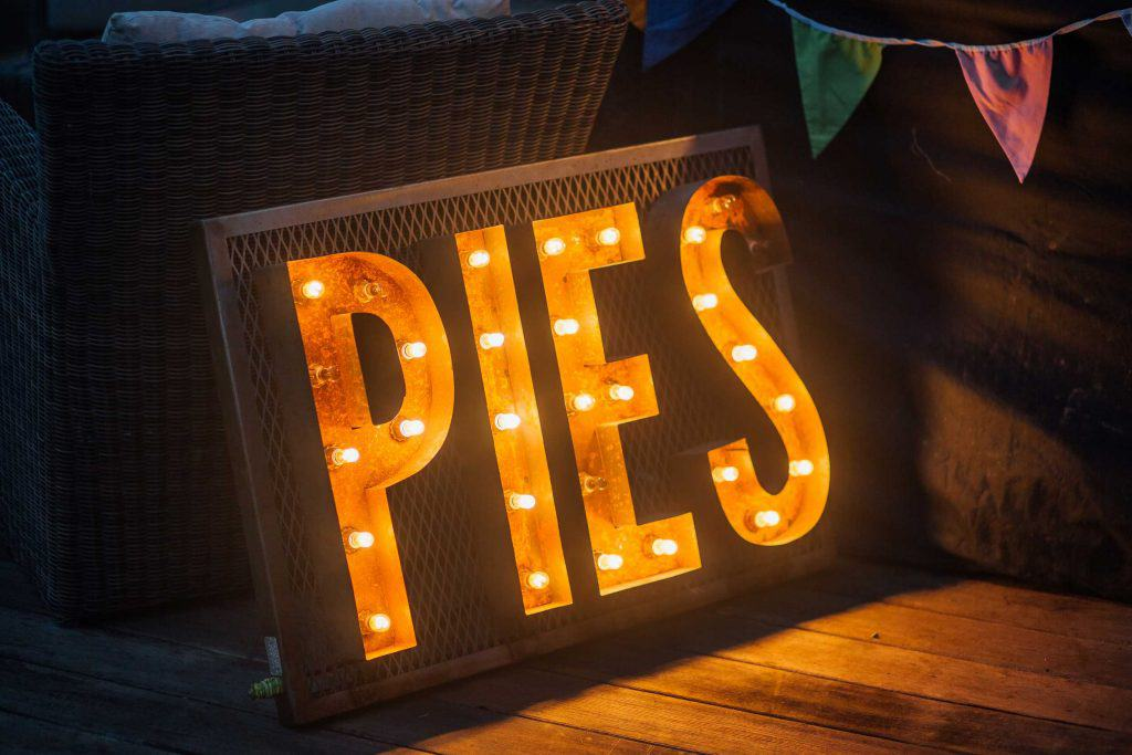 PIES light up letters