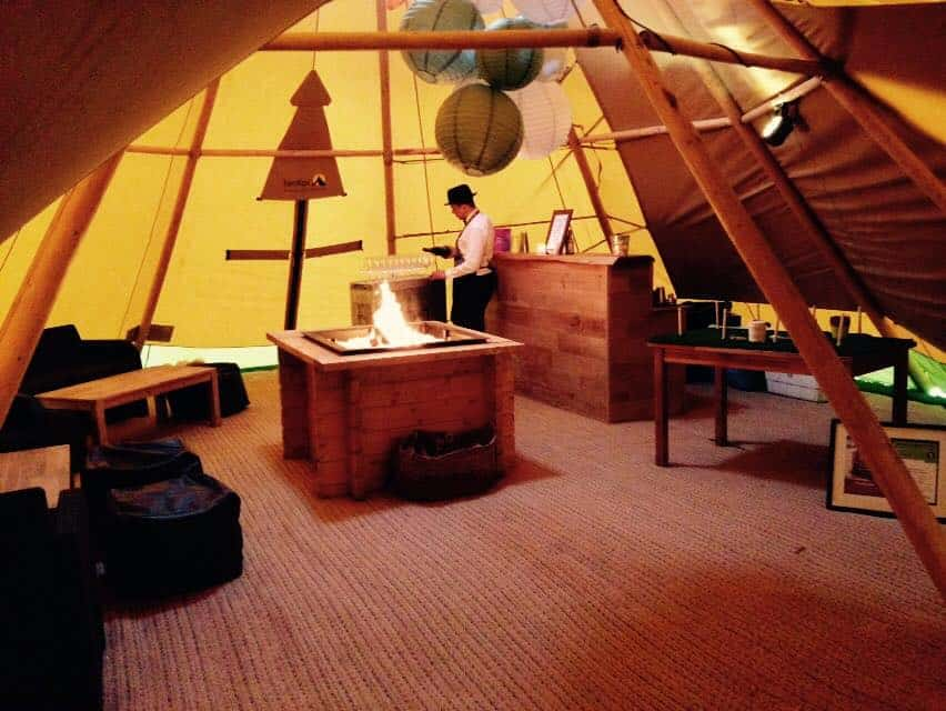 Sami Tipi Chill-Out Tipi complete with open fire place