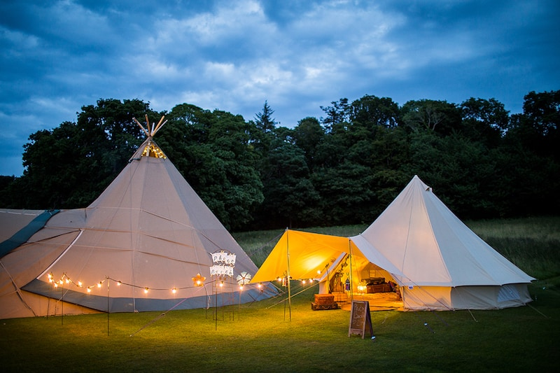 The Bell Tent Booth 1