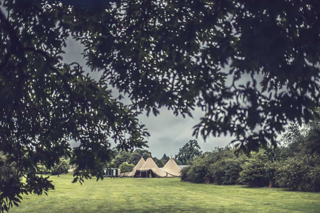 Tipi Set up 3 giant hat tipis - Victoria and Adams Sami Tipi Wedding at Bawdon Lodge Farm, Captured by Thomas & Thomas