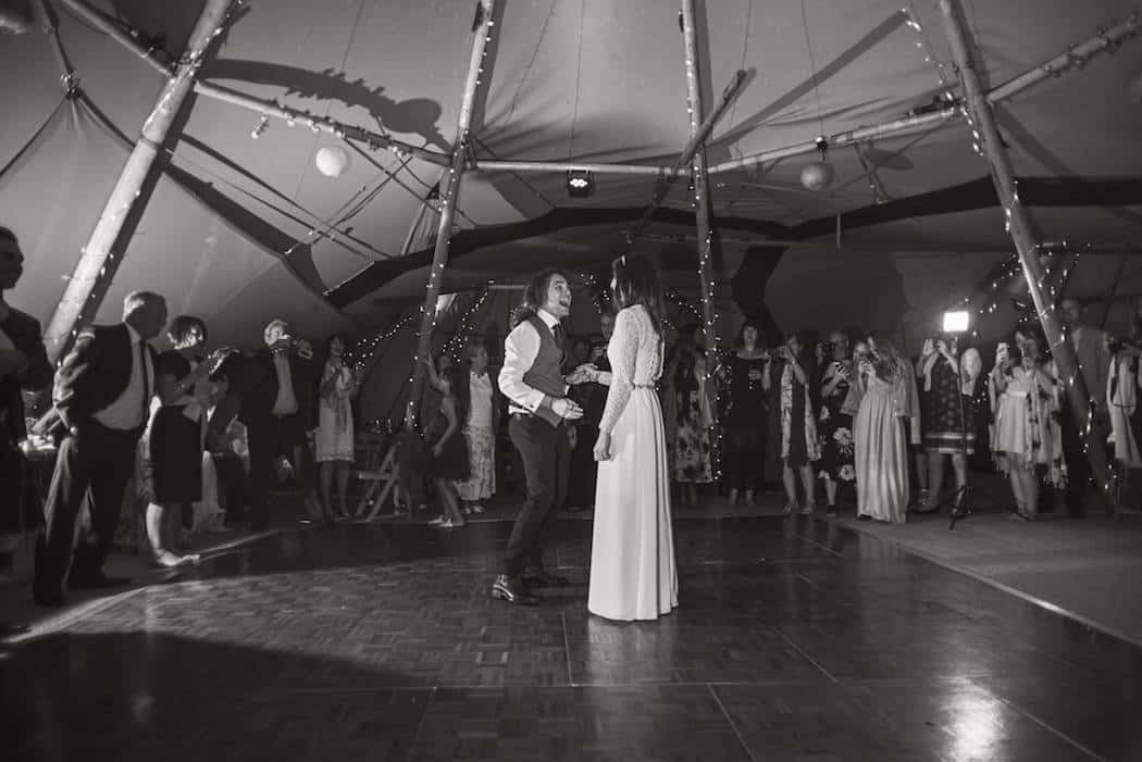 First Dance - Victoria and Adams Sami Tipi Wedding at Bawdon Lodge Farm, Captured by Thomas & Thomas