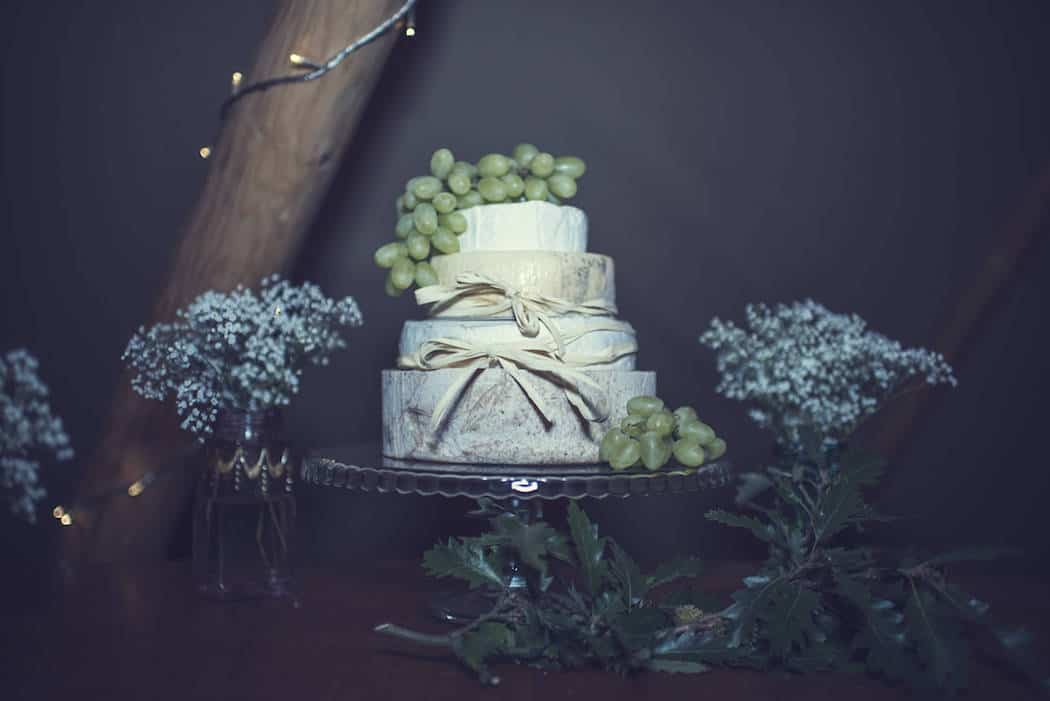 Cheese Wedding Cake - Victoria & Adams Sami Tipi Wedding at Bawdon Lodge Farm, Captured by Thomas & Thomas