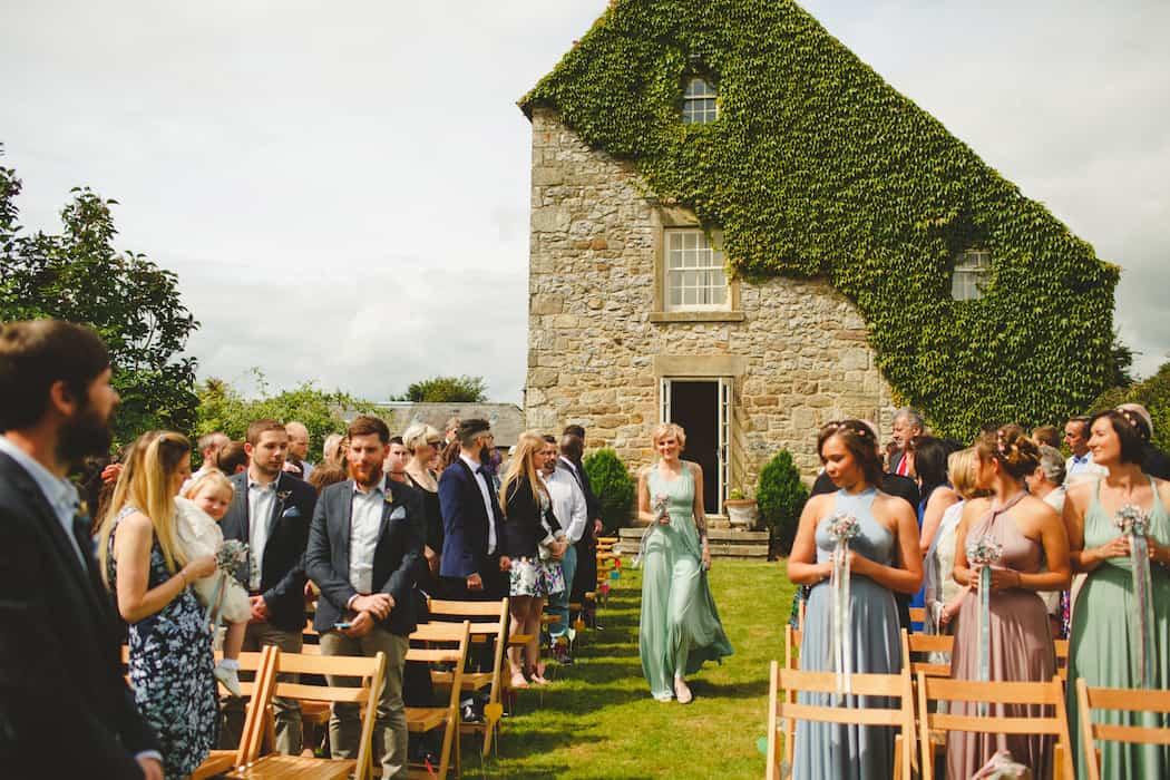Outdoor Wedding Ceremony - Tom and Ellie's Sami Tipi Wedding at Shingford Manor Derbyshire captured by Camera Hannah