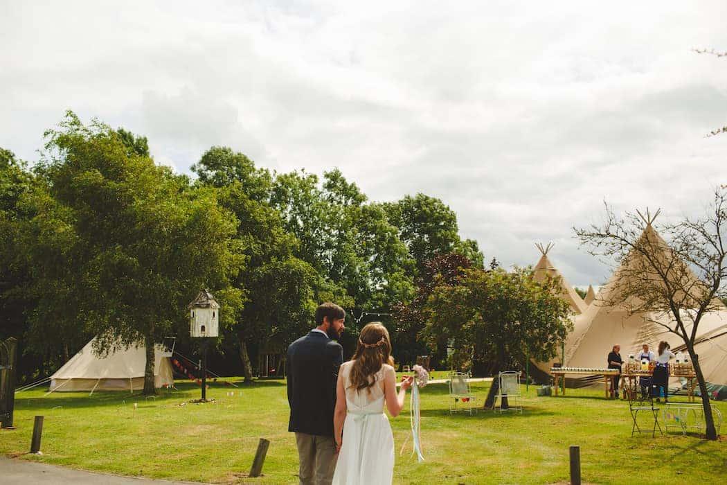 Tipi wedding celebration at Shiningford Manor with Sami Tipi