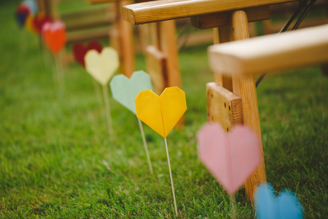 Outdoor ceremony set up - Tom and Ellie's Sami Tipi Wedding at Shingford Manor Derbyshire captured by Camera Hannah