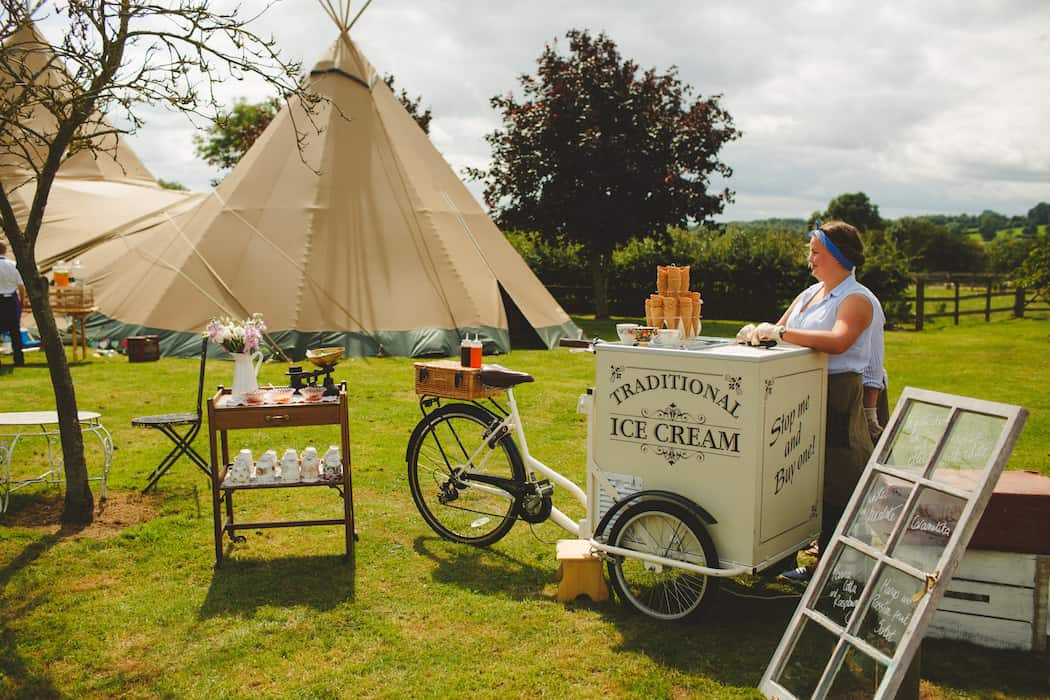 Ice-cream tricycle for a sweet treat for your guests