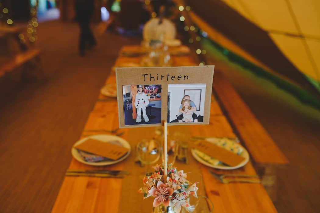 Tipi Table Setting - Tom and Ellie's Sami Tipi Wedding at Shingford Manor Derbyshire captured by Camera Hannah