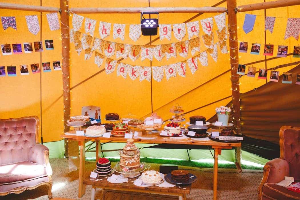 Wedding Bake Off - Tom and Ellie's Sami Tipi Wedding at Shingford Manor Derbyshire captured by Camera Hannah