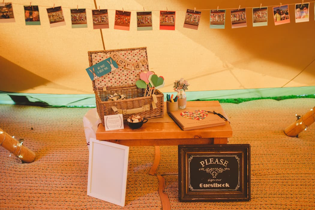 Guest Book - Tom and Ellie's Sami Tipi Wedding at Shingford Manor Derbyshire captured by Camera Hannah