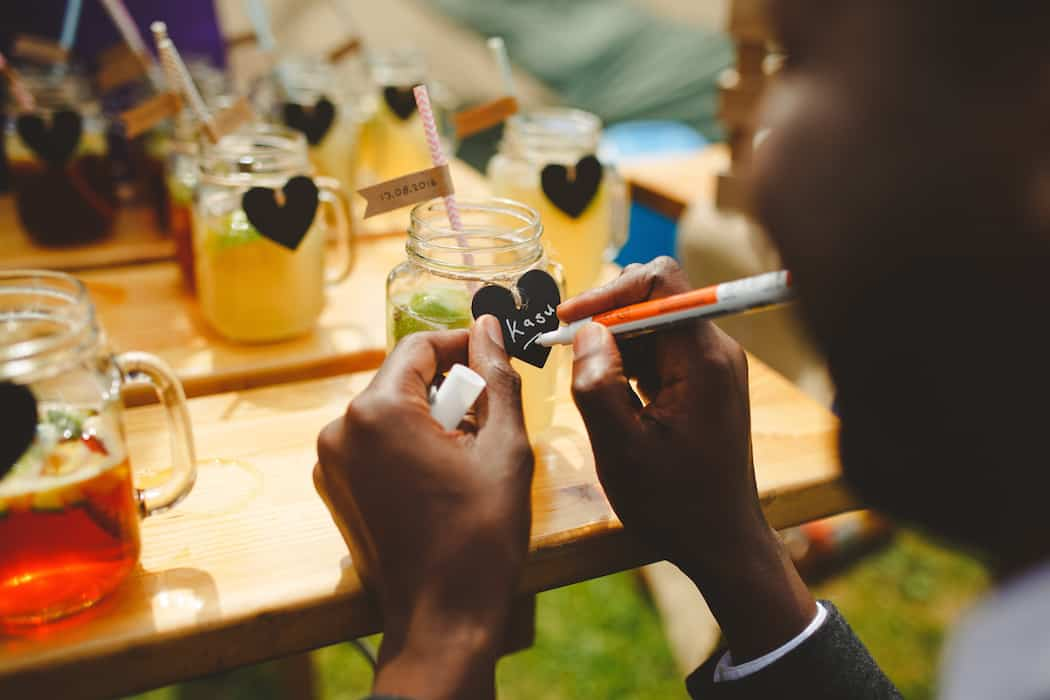 Welcome drinks - Tom and Ellie's Sami Tipi Wedding at Shingford Manor Derbyshire captured by Camera Hannah