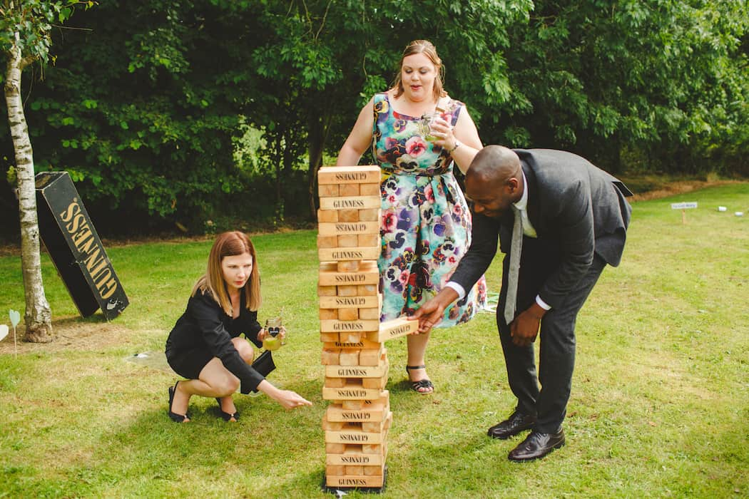 Jenga Garden Games to entertain your guests