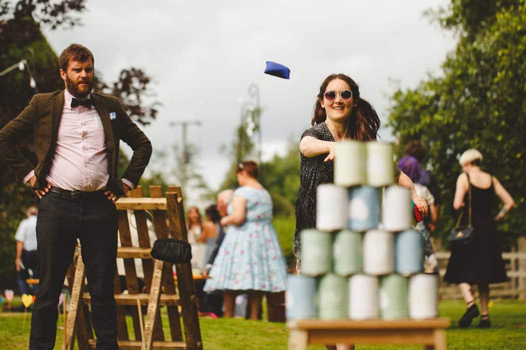 Homemade Garden Games - Tom and Ellie's Sami Tipi Wedding at Shingford Manor Derbyshire captured by Camera Hannah