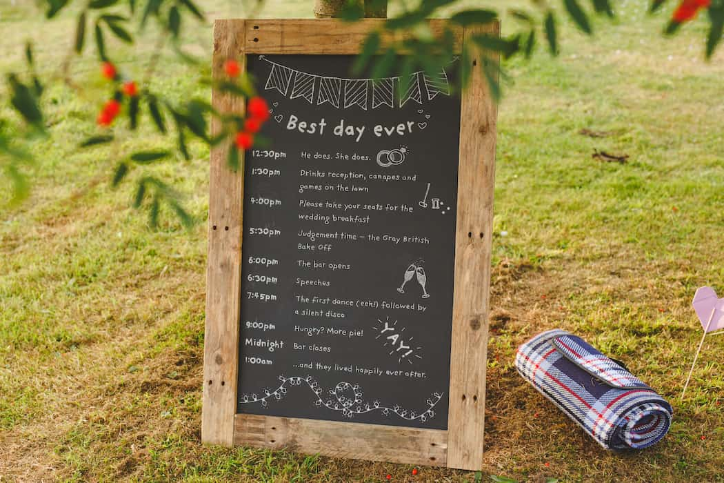 Timeline for the day - Tom and Ellie's Sami Tipi Wedding at Shingford Manor Derbyshire captured by Camera Hannah