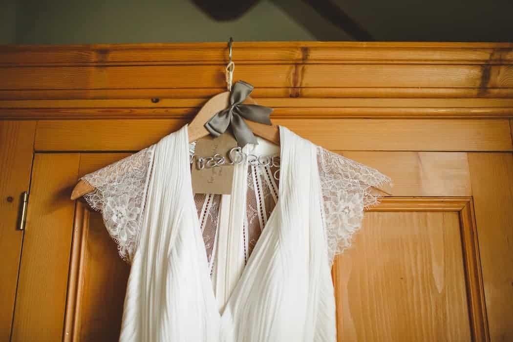 The Dress - Tom and Ellie's Sami Tipi Wedding at Shingford Manor Derbyshire captured by Camera Hannah