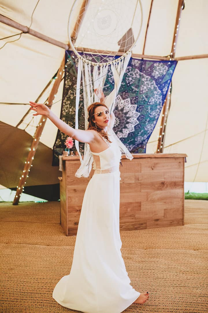 Boho Bride - Sami Tipi Wedding