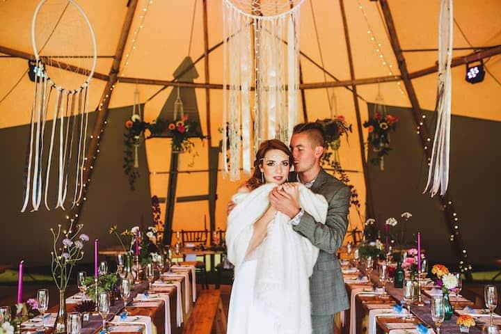 Dreamy Boho Bride - Sami Tipi Wedding Styling
