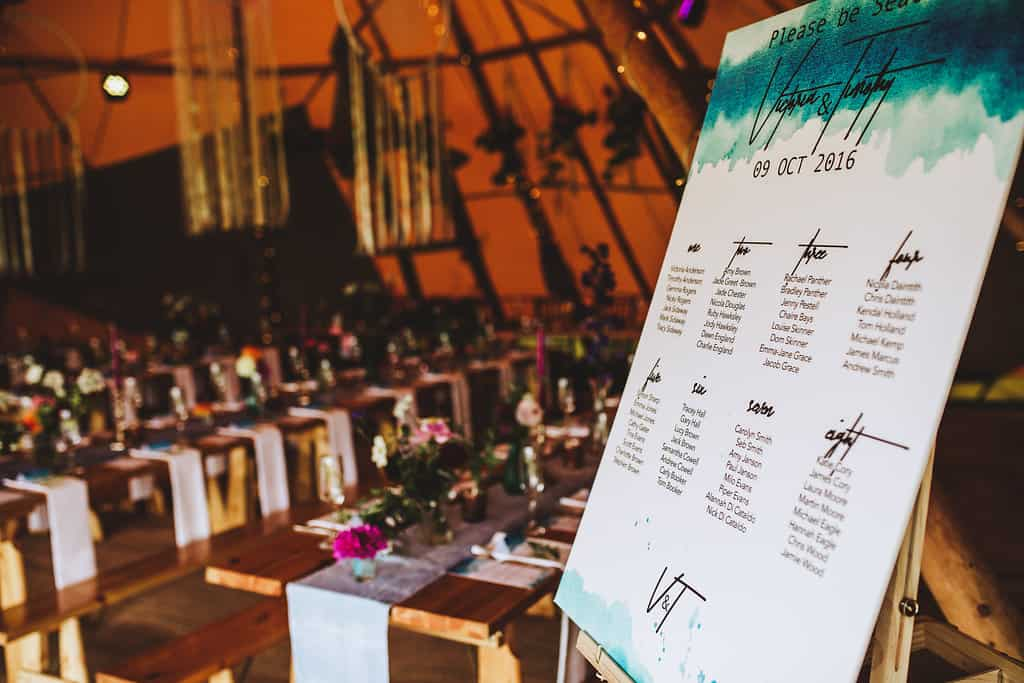 Table Seating Plan - Sami Tipi Wedding