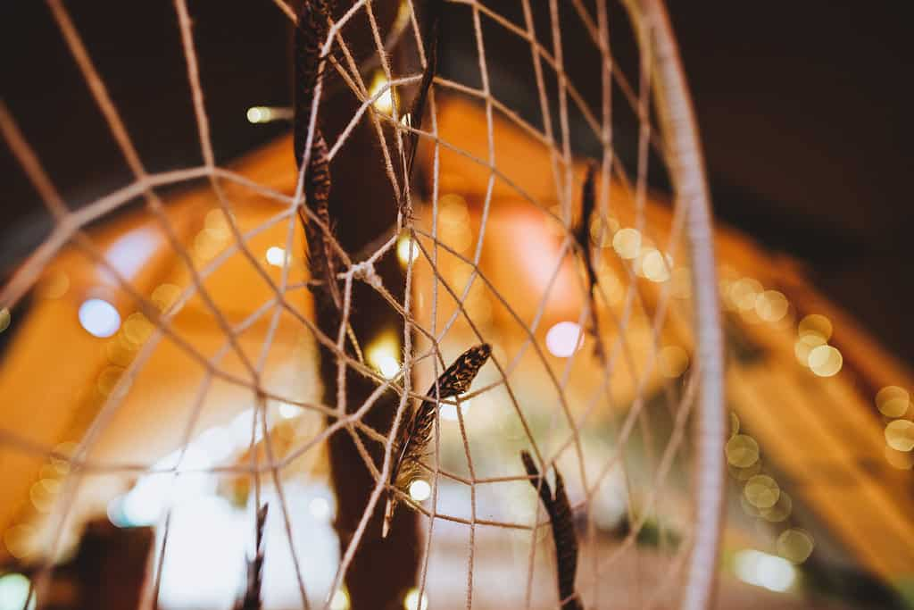 Giant Dream Catcher - Sami Tipi Wedding