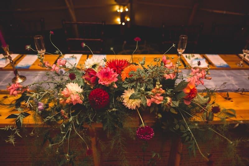 Floral Table Display | Sami Tipi | Hall Hall Photography