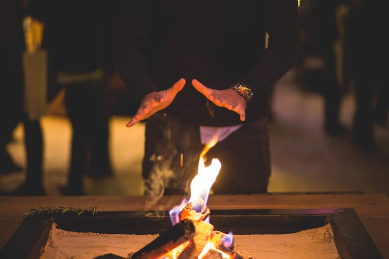 Real Flame Fire | Sami Tipi | Hall Hall Photography