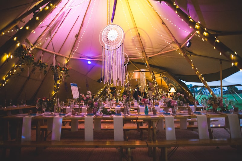 Dream Catchers inspired tipi wedding styling