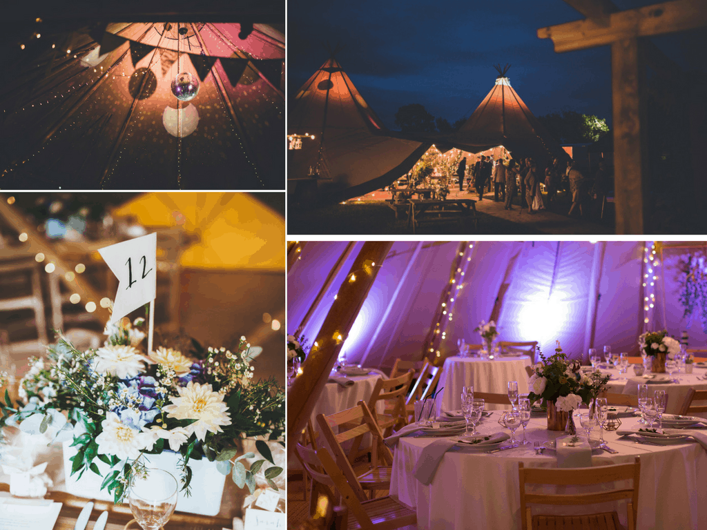 Inspiration for your Sami Tipi Wedding at Pipewell Hall