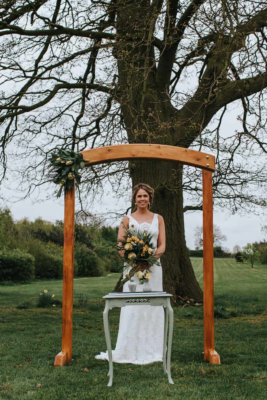Outdoor Wedding Ceremony | Bawdon Lodge Farm |Styled by Tickety Boo Events | Image by Ed Brown Photography