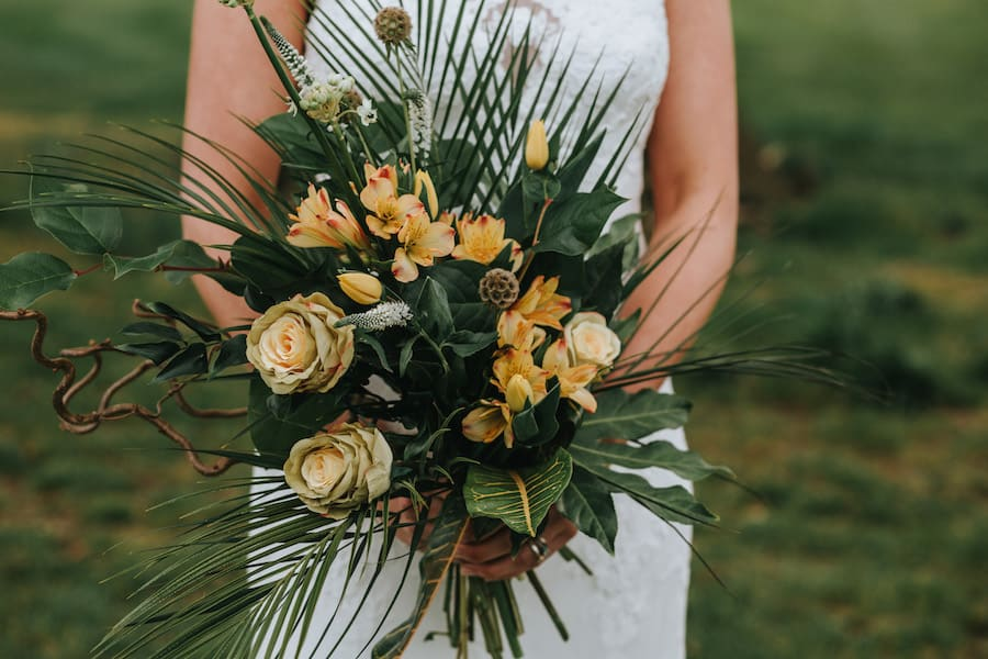 Tropical Wedding Bouquet | Twisted Willow Florist|Styled by Tickety Boo Events | Image by Ed Brown Photography