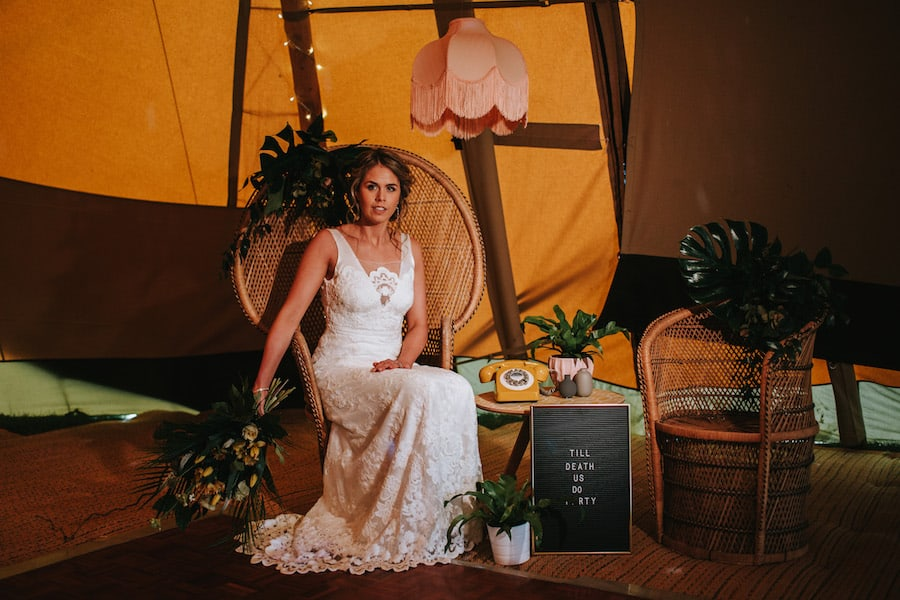 Peacock Chair & chill-Out Zone | Polly & Me | Sami Tipi| Styled by Tickety Boo Events | Image by Ed Brown Photography
