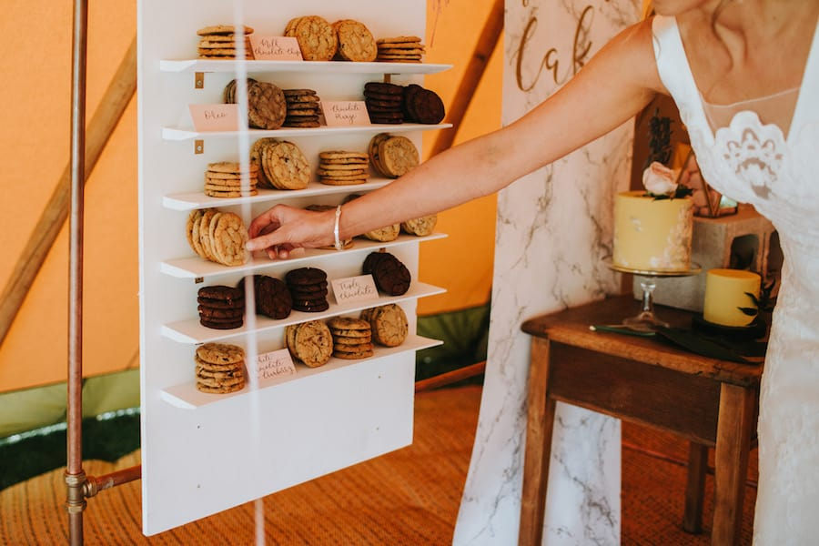 Cookie wall by Yummy Little Cakes | Sami Tipi| Styled by Tickety Boo Events | Image by Ed Brown Photography