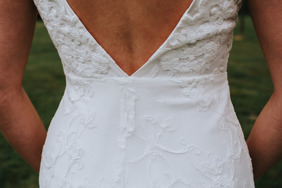 Lace Dress Detail | Alexandra Anne | Sami Tipi| Styled by Tickety Boo Events | Image by Ed Brown Photography