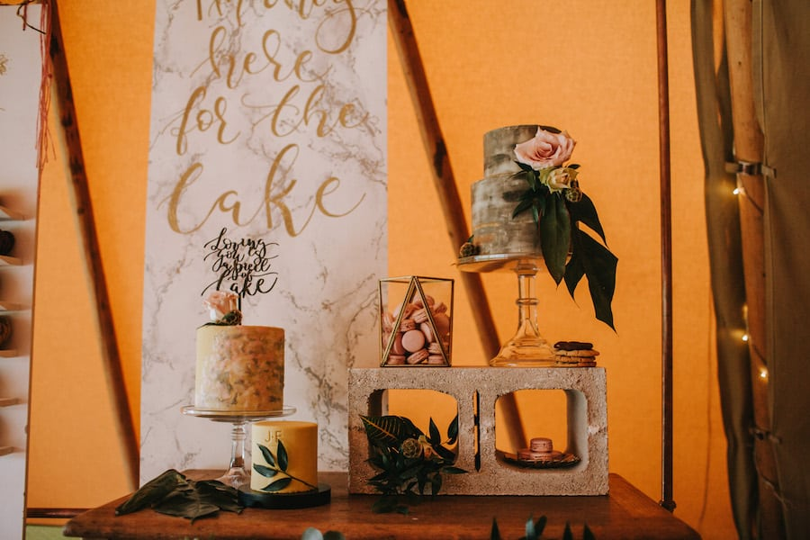 Tropical inspired sweet treat table & cookie bar by Yummy Little Cakes | Sami Tipi| Styled by Tickety Boo Events | Image by Ed Brown Photography