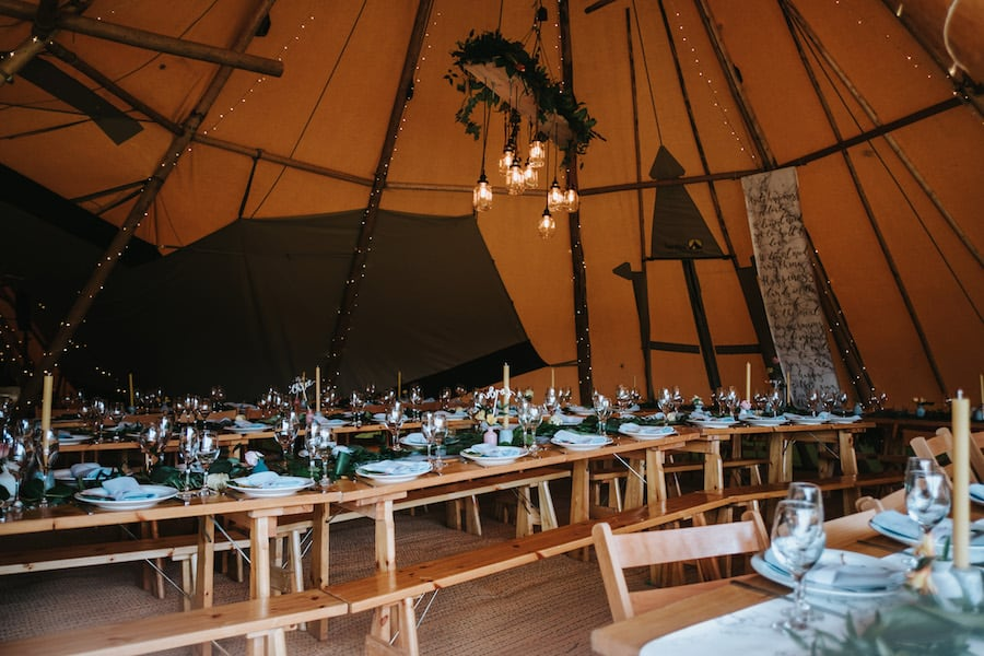 Stunning Scandi influenced table scape | Sami Tipi| Styled by Tickety Boo Events | Image by Ed Brown Photography