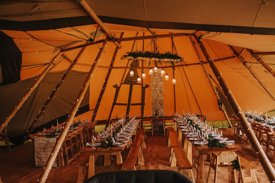 Stunning Scandi influenced tipi styling| Sami Tipi| Styled by Tickety Boo Events | Image by Ed Brown Photography