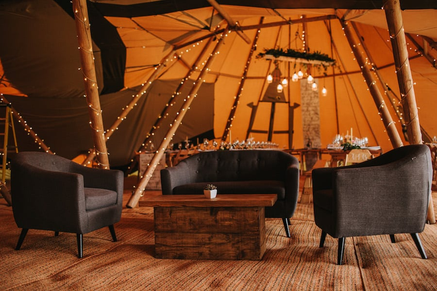 Chill-Out Zone| Soft Furniture Hire from Sami Tipi|Styled by Tickety Boo Events | Image by Ed Brown Photography