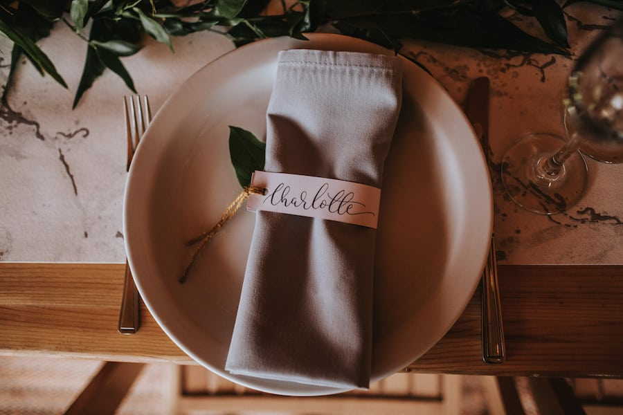 Hand Lettering Place Names by Polly & Me | Sami Tipi| Styled by Tickety Boo Events | Image by Ed Brown Photography