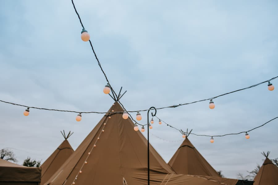 Festoon Lighting | Sami Tipi| Styled by Tickety Boo Events | Image by Ed Brown Photography