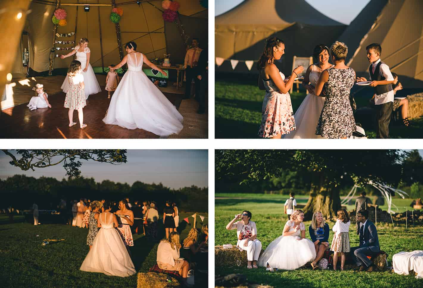 Sami Tipi | real wedding | Lisa and Fliss | Matt Brown Photography | Cattows Farm